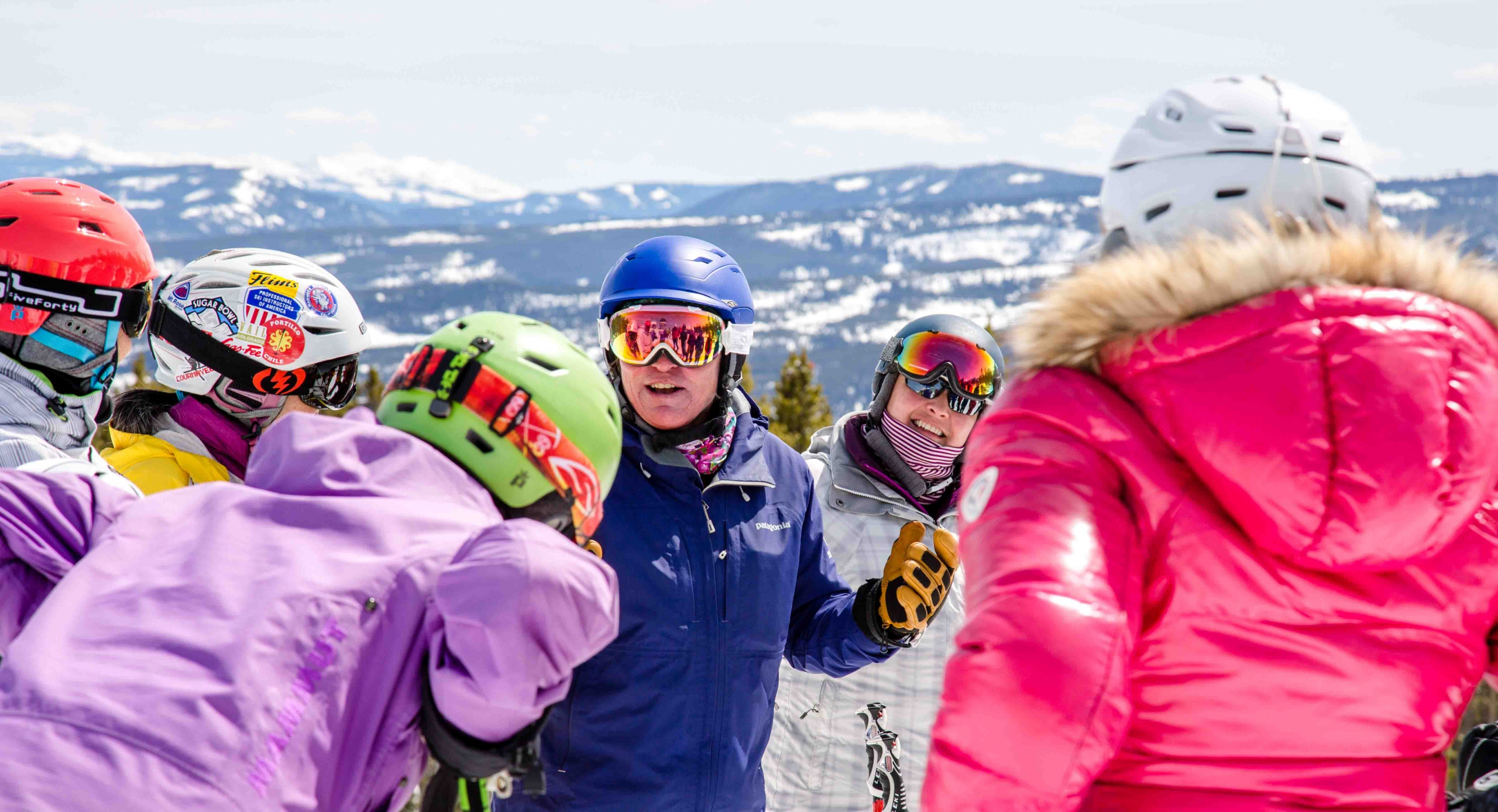 Mermer Blakeslee leads a womens clinic of ski instructors
