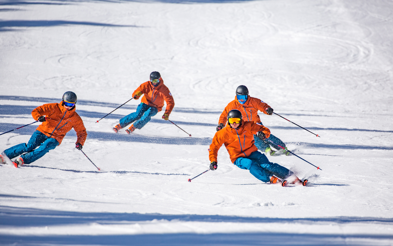 The PSIA Alpine Team skis at Demonstration Run at Interski 2019