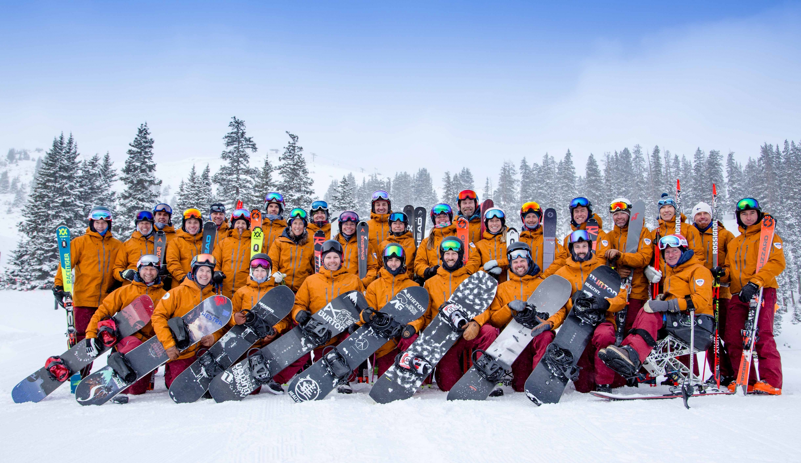The PSIA-AASI National Team Photo at A-Basin in Fall 2019