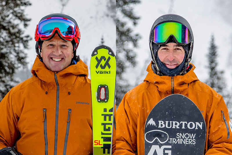 PSIA-AASI Alpine Team members Matt Boyd and Tony Macri