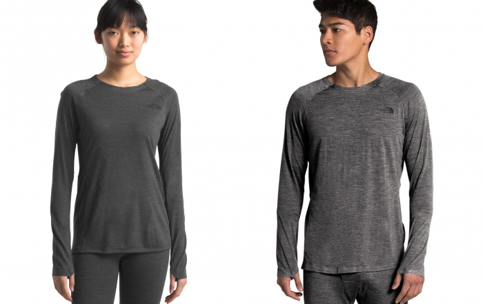 The North Face baselayers for men and women